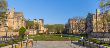 ivy league: Yale University, New Haven - April 4: Yale University campus on April 4, 2015. It is a private Ivy League research university in New Haven, Connecticut. Founded in 1701