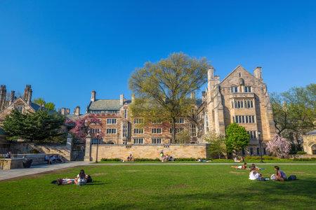 Université de Yale, New Haven - 4 Avril: campus de l'Université de Yale, le 4 Avril 2015. Il est une université de recherche Ivy League privée à New Haven, Connecticut. Fondé en 1701 Éditoriale