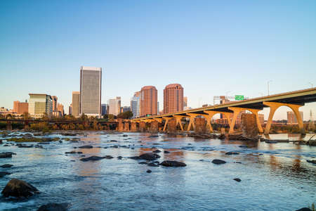 View of the skyline in Richmond, Virginia in USA Stock Photo