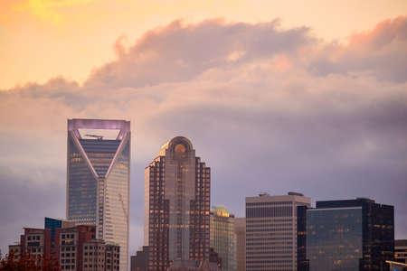 carolina: Skyline of downtown Charlotte in north carolina, USA