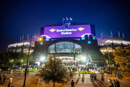 nfl: Charlotte, NC - OCT 25 :  Panthers NFL Stadium in downtown Charlotte on October 25,2015