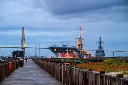 aircraft carrier: The World War II era aircraft carrier USS Yorktown in Charleston
