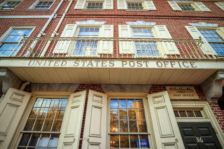 Franklin Post Office (the first united post office) in Philadelphia, USA