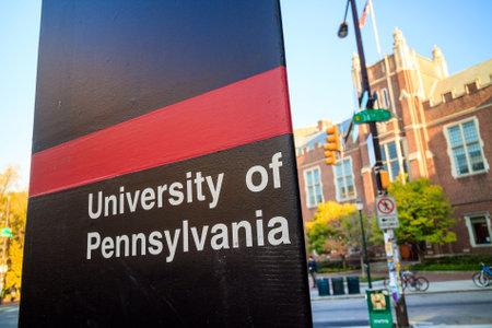 PHILADELPHIA - OCT 20: De universiteit van Pennsylvania op 20 oktober 2015. De universiteit van Pennsylvania (gewoonlijk Penn of UPenn genoemd)