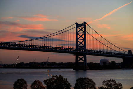 the franklin: Ben Franklin Bridge in  Philadelphia USA Stock Photo
