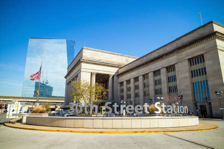 pa: PHILADELPHIA, PA. - OCT 20 : 30th Street Station, a national Register of Historic Places, AMTRAK Train Station in Philadelphia, PA on October 20, 2015 Editorial