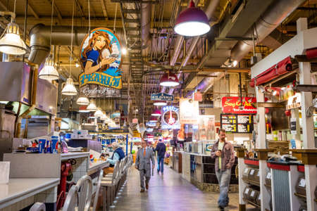 public market: PHILADELPHIA - OCT 20:Reading Terminal Market in Philadelphia, USA, on October 20, 2015. It is an enclosed public market found at 12th and Arch Streets in downtown Philadelphia.