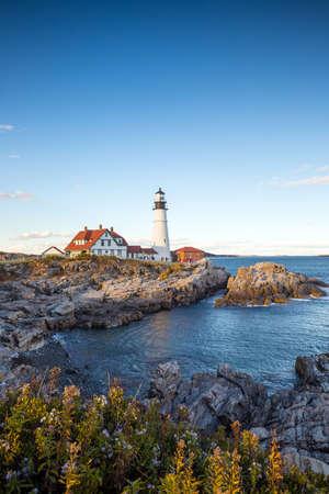 head light: The Portland Head Light in Portland, Maine, USA Stock Photo
