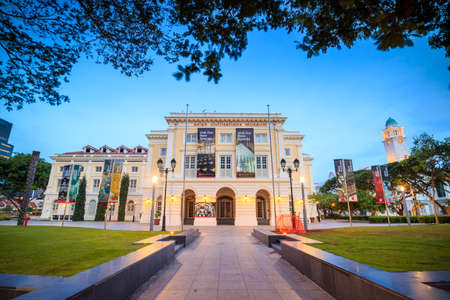 civilisations: SINGAPORE - DECEMBER 14 :  Asian Civilisations Museum in Singapore on December 14, 2015. Collection includes artifacts reflecting the cultural background of Singapore including ceramics, basketry, and textiles.