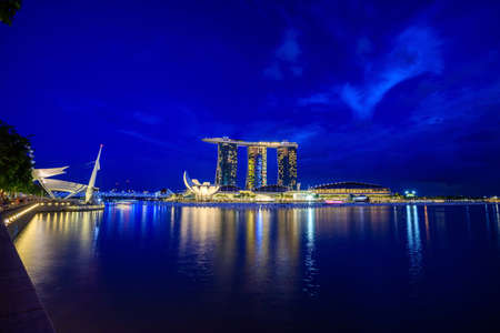 standalone: SINGAPORE - December 13: Marina Bay Sands, Worlds most expensive standalone casino property in Singapore on December 13, 2015