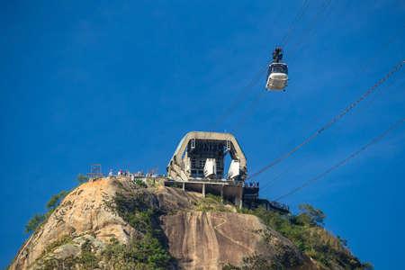 cable car: Sugar Loaf Mountain cable car in Rio de Janeiro