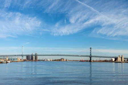 benjamin: Landscape view of Benjamin Franklin Bridge in Philadelphia PA