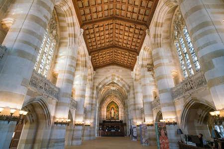 Université de Yale, New Haven - 15 Avril: Intérieur de bibliothèque de l'Université de Yale le 15 Avril, 2016