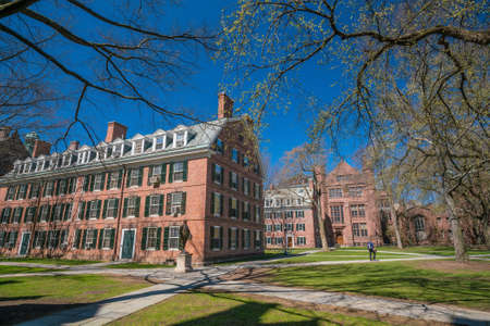 historical building: Historical building in downtown New Haven CT, USA Stock Photo