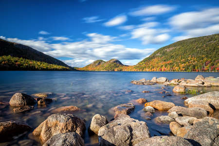 Jordan Pond in Acadia National Park, Maine, USA Stock Photo - 61391423