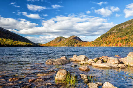 Jordan Pond in Acadia National Park, Maine, USA