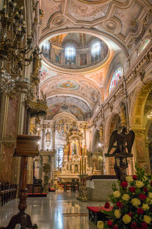 plaza de armas: SANTIAGO, CHILE - May 7: Metropolitana cathedral on Plaza de Armas on May 7, 2016 in Santiago, Chile.