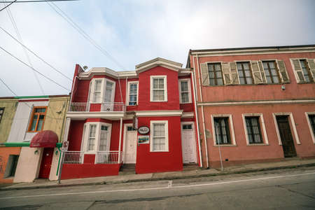 VALPARAISO, CHILE - May 15, 2016: Colourful street art decorating houses in the UNESCO World Heritage port city of Valparaiso in Chile.