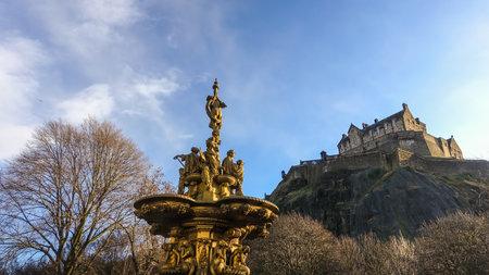 princes street: Ross fountain landmark in Pinces Street Gardens. Edinburgh, Editorial
