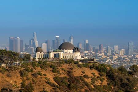 griffith: Griffith Observatory and downtown Los Angeles in CA,USA