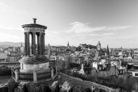 scottish culture: Beautiful view of the old town city of Edinburgh