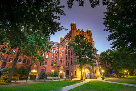 Historical building in downtown New Haven and Yale University, CT USA 写真素材