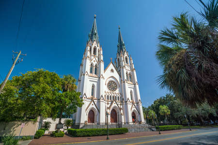 St John the Baptist Cathedral in Savannah Georgia, USA Stock Photo