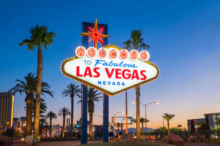 The Welcome to Fabulous Las Vegas sign in Las Vegas, Nevada USA 免版税图像