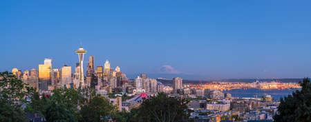 View of downtown Seattle skyline in Seattle Washington, USA