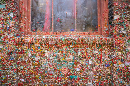 SEATTLE- JULY 29 : The Market Theater Gum Wall in downtown Seattle on July 29, 2016. It is a local landmark in downtown Seattle, in Post Alley under Pike Place Market. Editorial