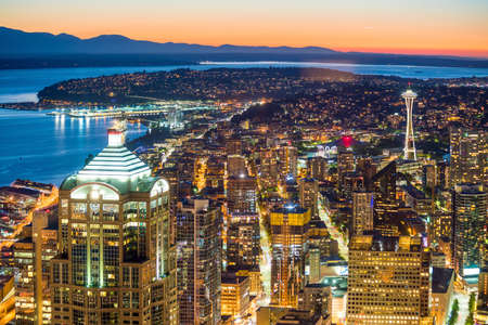 View of downtown Seattle skyline in Seattle Washington, USA Stock Photo - 67073052