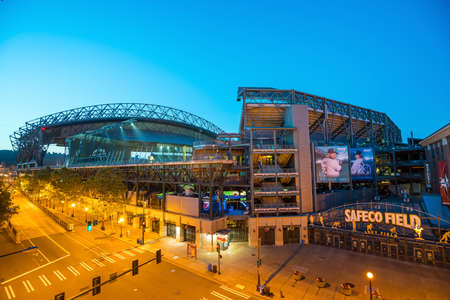 seahawks: SEATTLE - JULY 29: CenturyLink Field, Seattle in July 29, 2016. It was originally called Seahawks Stadium but was renamed Qwest Field on June 23, 2004