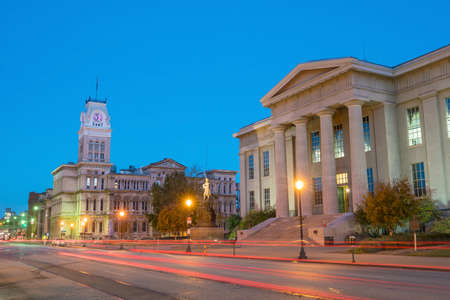 The old City Hall  in downtown Louisville, Kentucky USA 스톡 콘텐츠