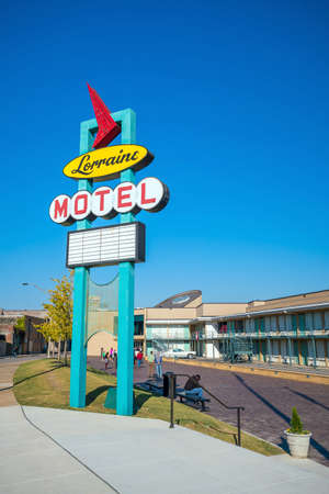 MEMPHIS, USA - NOV 13: National Civil Rights Museum on November 13, 2016. It is built around the former Lorraine Motel, where Martin Luther King was assassinated
