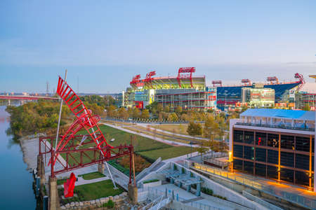 tn  tennessee: NASHVILLE - NOV 10: LP Field stadium in Nashville on November 10, 2016 The stadium is the home field of the NFLs Tennessee Titans