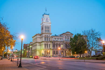The old City Hall  in downtown Louisville, Kentucky USA Stock Photo
