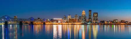 View of  Skyline downtown Louisville in Kentucky USA