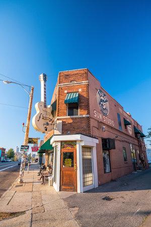 roy: MEMPHIS, USA - NOV 13: Sun Studios in Memphis on November 13, 2016. This historic recording studio was where Elvis Presley cut his first record.