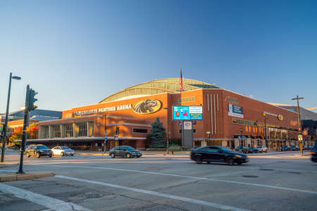 Milwaukee: Milwaukee - Nov 6: UW�Milwaukee Panther Arena on November 6, 2016 It is an indoor arena located in Milwaukee, Wisconsin. The arena, which seats as many as 12,700 people Editorial