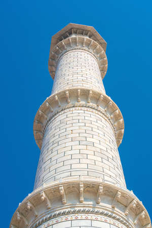 Details of decorations in Taj Mahal, Agra India