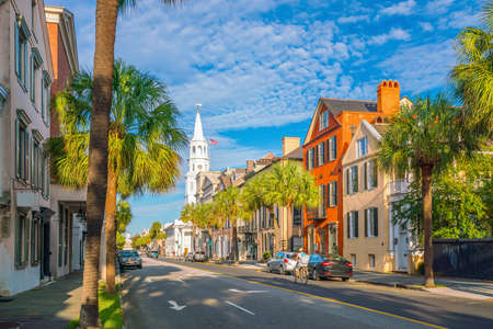 Historical downtown area of  Charleston, South Carolina, USA