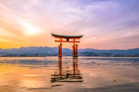 Miyajima, The famous Floating Torii gate in Japan.