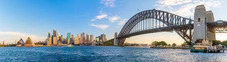 Downtown Sydney skyline with blue sky in Australia Редакционное