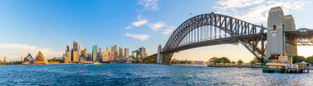 Downtown Sydney skyline with blue sky in Australia Editoriali