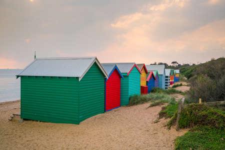 st kilda: Colorful Beach House at Brighton Beach in Melbourne Australia