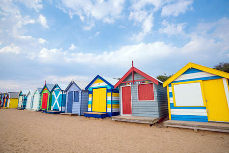 brighton: Colorful Beach House at Brighton Beach in Melbourne Australia