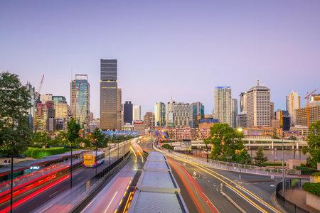 Brisbane city skyline  at twilight in Australia Stock Photo - 80740886