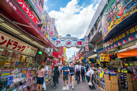 TOKYO, JAPAN - JUNE 05: Maman - Ameyoko market street in Tokyo Japan. It located next to Ueno Station. on June 5, 2017 Editorial
