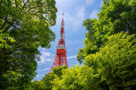 View of tokyo Tower in Japan.