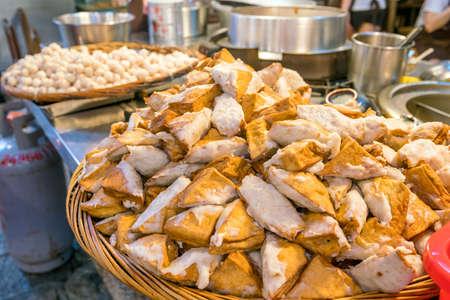 Stinky Tofu at Jiufen Old Street in Taipei Taiwan Stock Photo